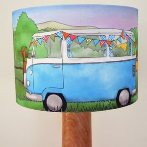 Campervan Lampshade - living room