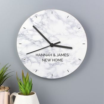 Personalised Marble Effect Clock