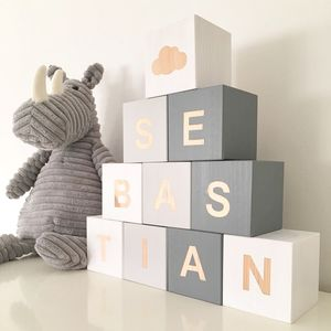 Personalised Name Building Blocks