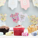 Baby Shower Floral Baby Grow Cake Toppers