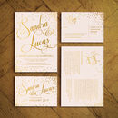 Sparkle Foiled Wedding Invitations