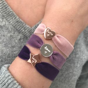 Personalised Luxe Velvet Stretch Bead Bracelet - shop by category