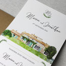 Wedding Venue Illustration Invitation Suite