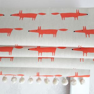Mini Mr Fox Blackout Roman Blind - home decorating