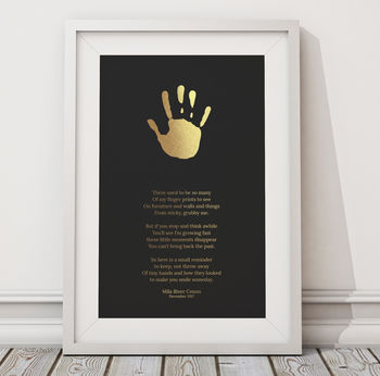 Foil Blocked Personalised Sticky Fingers A3 Print