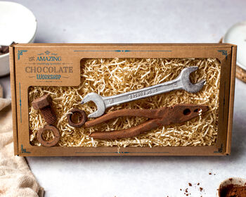 Realistic Chocolate Spanner, Pliers, Nut And Bolt Box