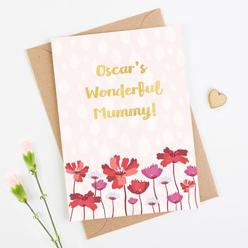 Wonderful Mummy Personalised Mother's Day Card
