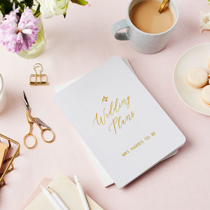 Personalised wedding plans foiled notebook by martha brook personalised wedding plans foiled notebook by martha brook notonthehighstreet junglespirit Image collections