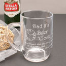 Personalised Dad It's Beer O'clock Tankard