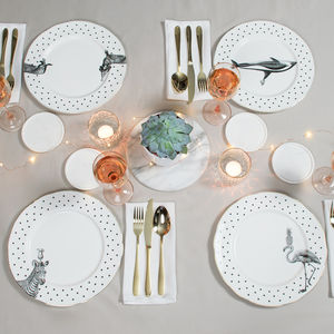 Animal Dinner Plate Set - crockery & chinaware