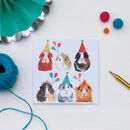 Six Party Guinea Pigs Birthday Card