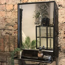 Mirror With Shelf Black Or Gold