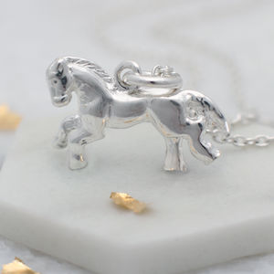 Personalised Sterling Silver Little Horse Necklace - christening jewellery