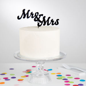 Mr And Mrs Wedding Cake Topper - cakes & treats