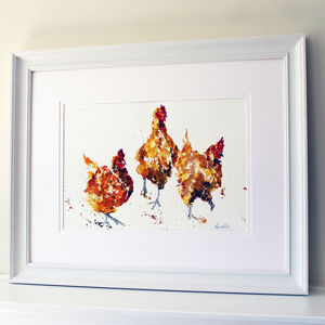 Chicken Painting, The Hen Party