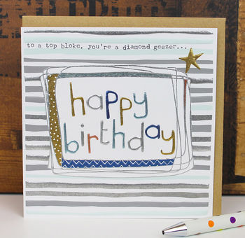 Birthday Card For A Man Or Woman