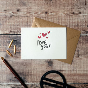 'Love You!' Letterpress Card