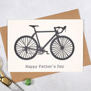 Personalised Papercut Bicycle Fathers Day Card