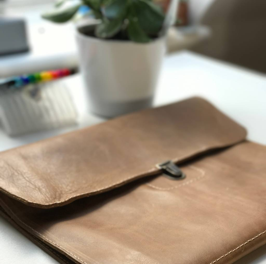 Leather Handmade Document And Macbook Case