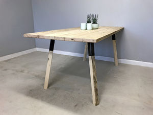 Reclaimed Wood Duo Dining Table