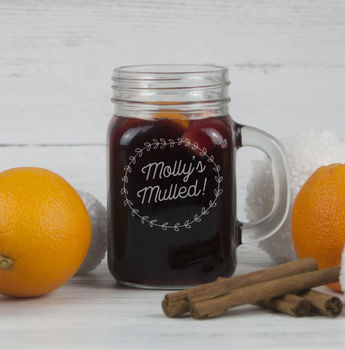 Personalised Mulled Wine Mason Jar