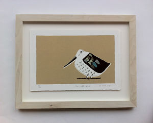 The Little Bird Handprinted Screenprint - nursery pictures & prints