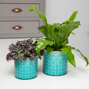 Turquoise Moroccan Style Indoor Plant Pot, Planter 127