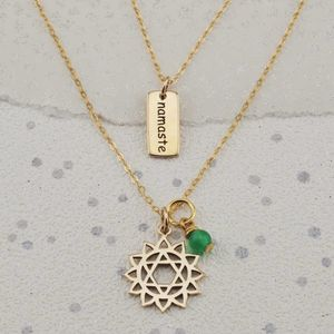 Selection Gold Yoga Chakra Necklaces - necklaces & pendants