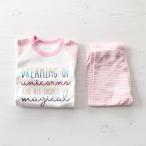 Rainbow 'Unicorn' Pyjamas - clothing