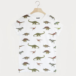 Dinosaur All Over Print Unisex Summer T Shirt - tops & t-shirts