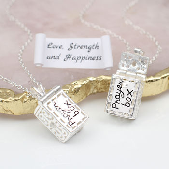 Personalised Sterling Silver Prayer Box Necklace