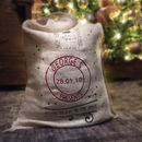 Large Personalised Christmas Santa's Sack