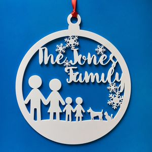 Personalised Stick Family Bauble Wreath - wreaths