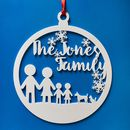 Personalised Stick Family Bauble Wreath