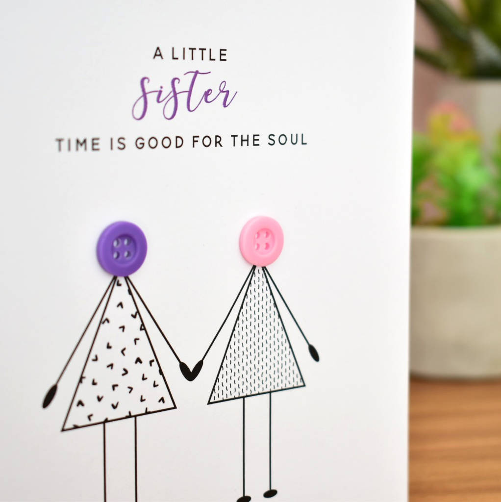 Birthday Card For Your Sister Button People