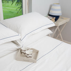 Embroidered Flat Sheets - bedroom