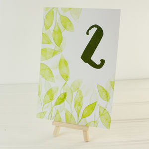 Botanical Wedding Table Numbers - table decorations