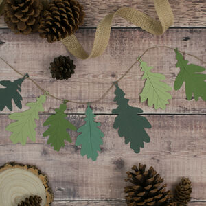Green Oak Leaf Woodland Garland