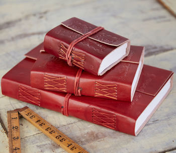 Fair Trade Embossed Leather Journals