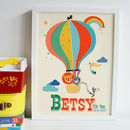 Personalised Hot Air Balloon Nursey Name Print
