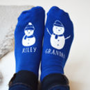Personalised Snowman And Me Socks