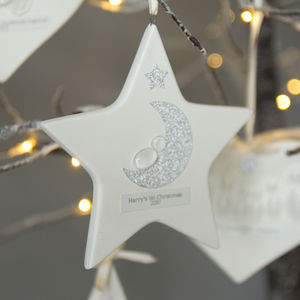 Personalised Baby's First Christmas Hanging Decoration - christmas decorations