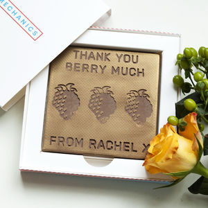 Personalised Thank You Chocolate Card - novelty chocolates