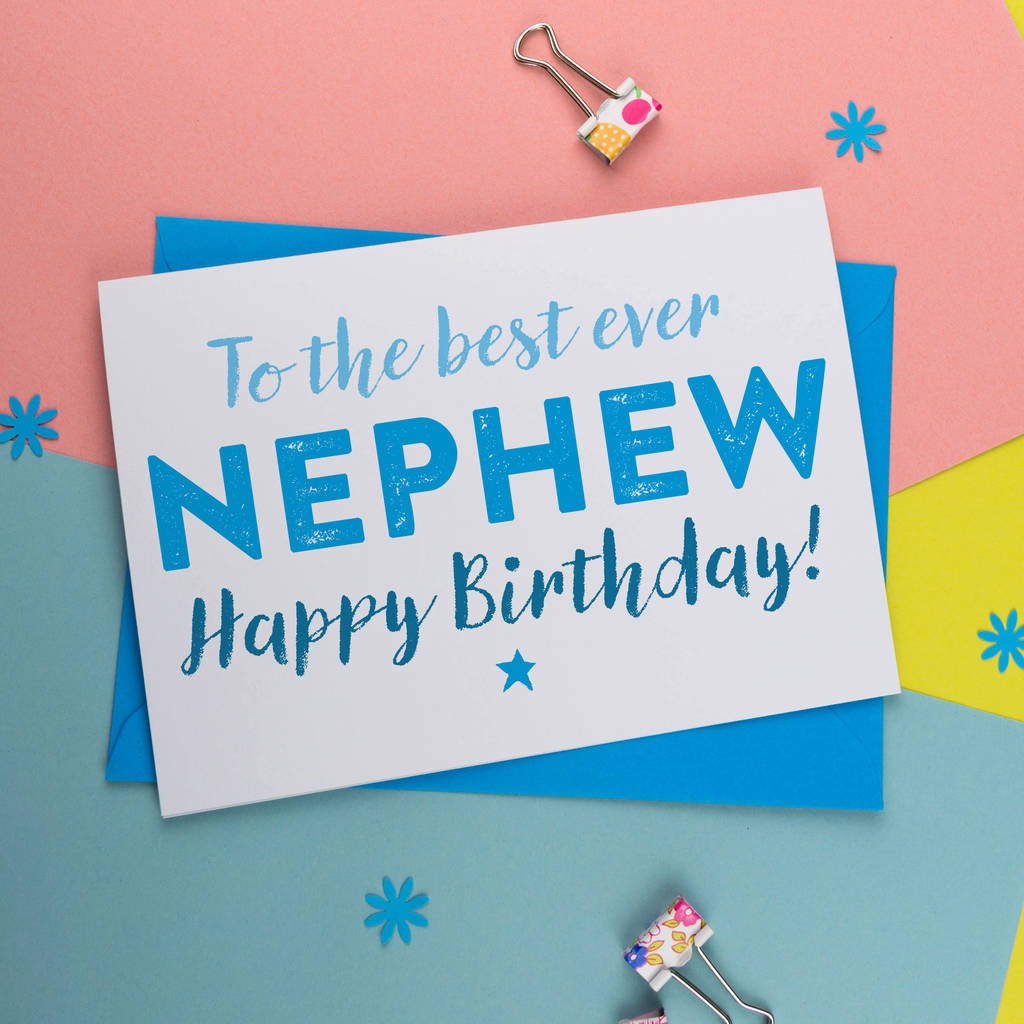 Birthday Card For Nephew By A Is Alphabet