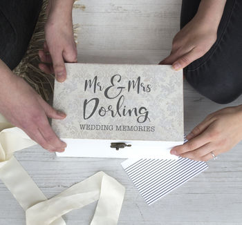 Personalised Wedding Memories Box