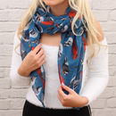 Personalised Woven Bird Motif Scarf