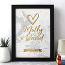 Personalised Wedding Map Print