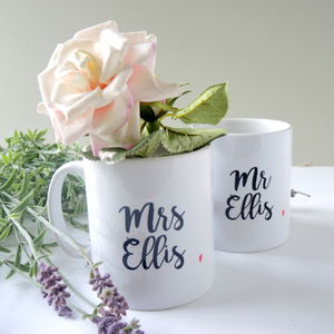 Personalised Totally In Love Mr And Mrs Mugs
