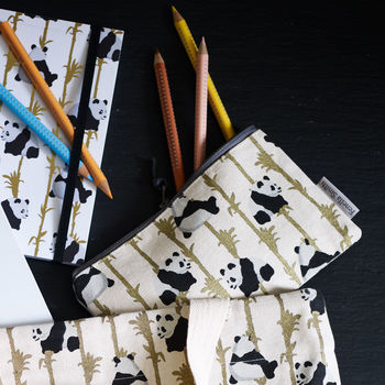Panda And Bamboo Pencil Case