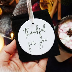 Thankful Gratitude Christmas Decoration